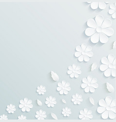 seamless pattern daisy with leaves on gray vector image