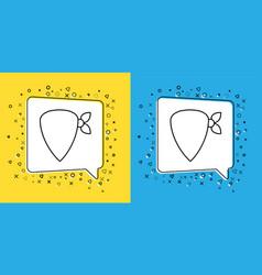 Set line cowboy bandana icon isolated on yellow vector