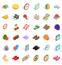 Skill icons set isometric style vector