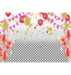 Stock elegant balloon party celebration festival vector