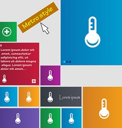 Thermometer Temperature icon sign Metro style vector