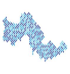 tilos greek island map population people vector image