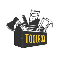 Toolbox logo templates vector