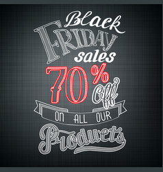 typographic black friday sale template vector image