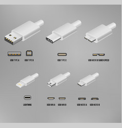 usb all type vector image