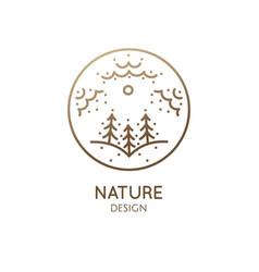 Vertical logo nature vector