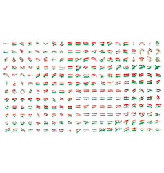 very big collection of flags of the hungary vector image