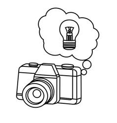 vintage camera cartoon vector image