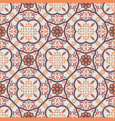 vintage floor tiles ornament purple pattern vector image