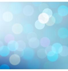 Blue defocused lights background vector image vector image