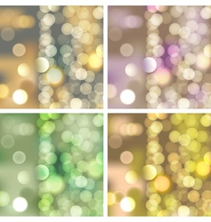 blurred lights backgrounds vector image vector image