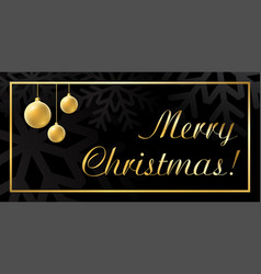 christmas ball gold background vector image vector image
