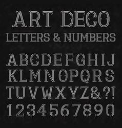 font in art deco style vintage alphabet white vector image