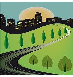 Journey to the city vector image vector image