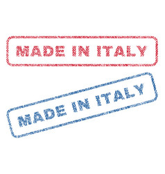 made in italy textile stamps vector image