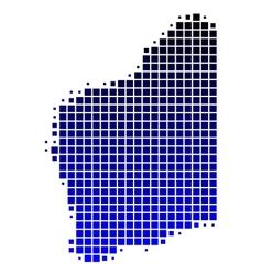 Map of Western Australia vector image vector image