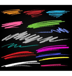 Scribble Colorful Smears Hand Drawn in Pencil vector image vector image