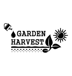 concept harvest symbol vector image vector image