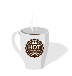 cup with hot chocolate vector image