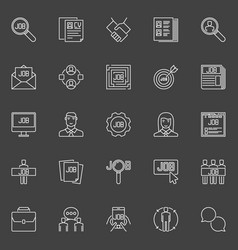 employment line icons vector image vector image
