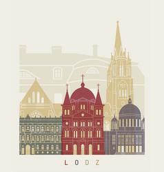 lodz skyline poster vector image vector image