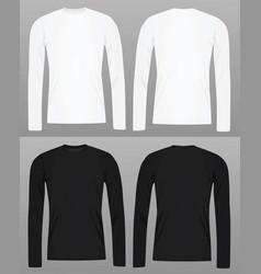 long sleeve t shirt template vector image