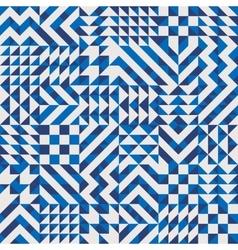 Seamless Irregular Geometric Blocks Pattern vector image vector image