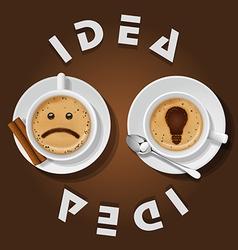 cappuccino cup with words idea vector image vector image