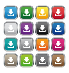 Download metallic square buttons vector image