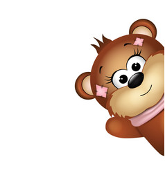 Funny bear with waves the paw vector image