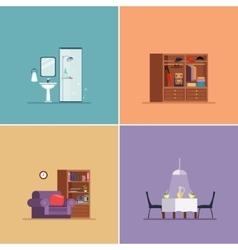 Interior Design Types Set vector image