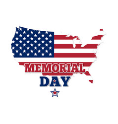 memorial day design map of the usa vector image