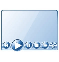 multimedia player controls vector image vector image