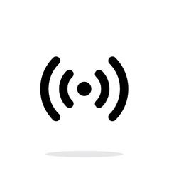 Radio waves icon on white background vector image vector image