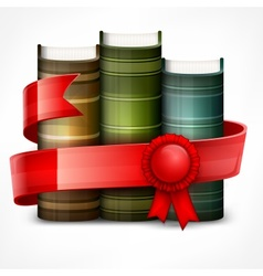 Stack of books with ribbon vector image vector image