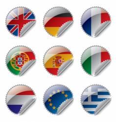 world flag labels vector image