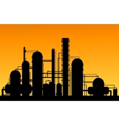 Chemical factory vector image vector image