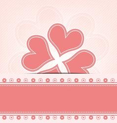 heart flower retro design vector image vector image
