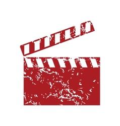 Red grunge cinema logo vector image vector image