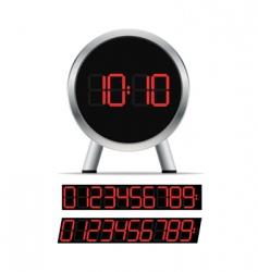 stylish digital clock vector image vector image