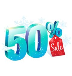 Winter Sale 50 Percent Off vector image