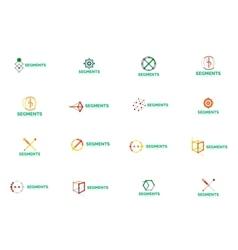 Abstract line logo collection vector