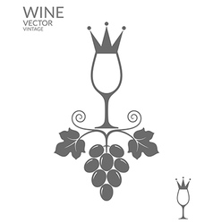 Abstract wine vector image
