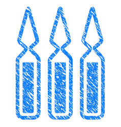 Ampoules grunge icon vector