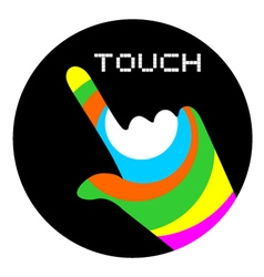 Art touch icon vector