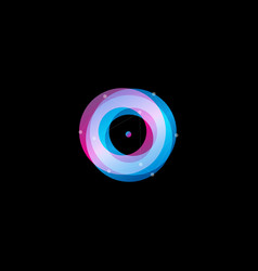 Astrology abstract logo concept ultraviolet torus vector