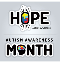Autism Awareness Slogan Graphics vector image