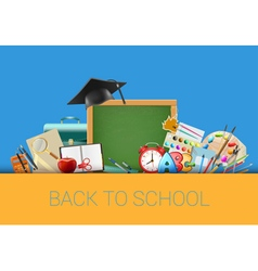 Back to school background with chalkboard vector