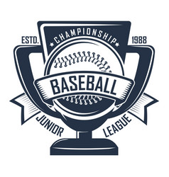 baseball badge championship vector image