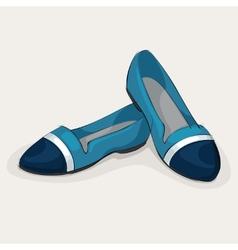 Blue ballet flats vector